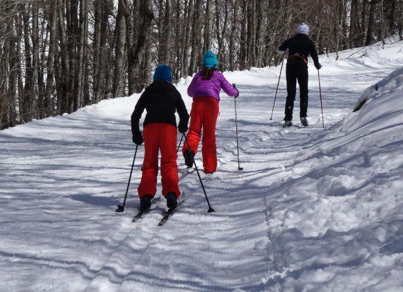 Esqui de travesía junto a Boltaña